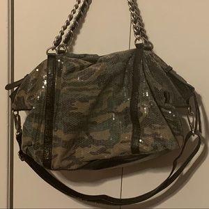 Express Camo/Sequin Large Shoulder/Crossbody bag